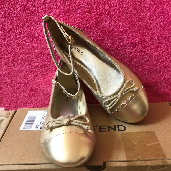 87c6319e4db12 💥Hurry ⚡️Sale💥Girls Lands' Gold Ballerina Flats NWT
